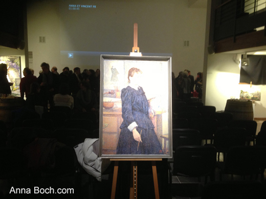 portrait d'Anna Boch � la salle de reception du Mus�e Wellington � Waterloo / Brussels