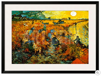 Art Print of the Red Vineyard panting