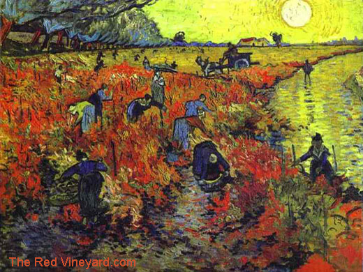 The Red Vineyard by Vincent van Gogh 1888