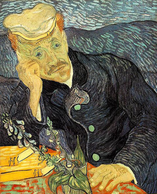 Dr Paul Gachet by Vincent van Gogh